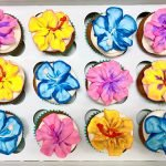 Tropical Flower Cupcakes