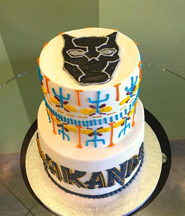 black panther tribal tiered cake  u2013 classy girl cupcakes