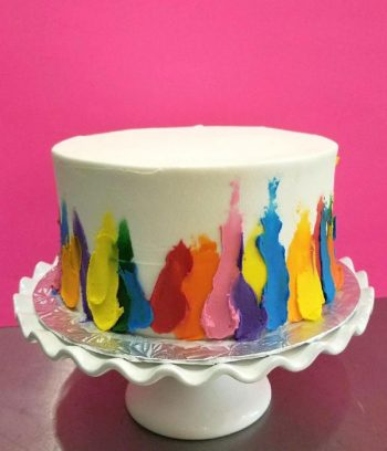Finger Paint Layer Cake - Right Side