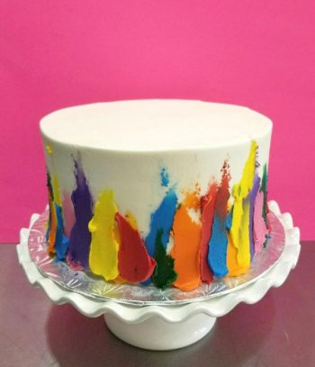 Finger Paint Layer Cake