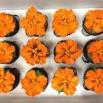 Tropical Flower Cupcakes - Orange