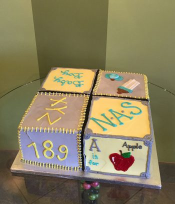 Baby Blocks Layer Cake - Side