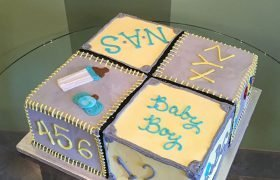 Baby Blocks Layer Cake