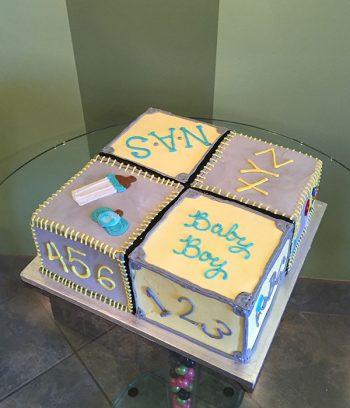Baby Blocks Layer Cake