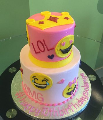 Emoji Tiered Cake - Side
