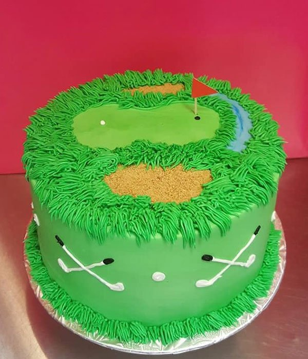 Admirable Golf Course Layer Cake Classy Girl Cupcakes Funny Birthday Cards Online Eattedamsfinfo
