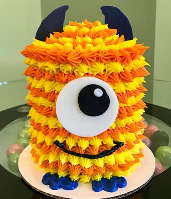 Little Monster Layer Cake - Yellow and Orange