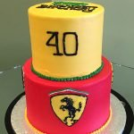 Car Logo Tiered Cake