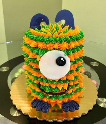 Little Monster Layer Cake - Orange & Green