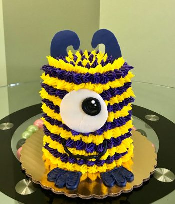 Little Monster Layer Cake - Yellow & Purple
