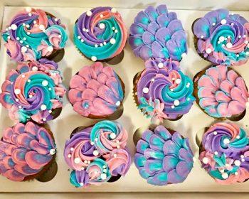 Mermaid Cupcakes - Purple, Pink, Aqua