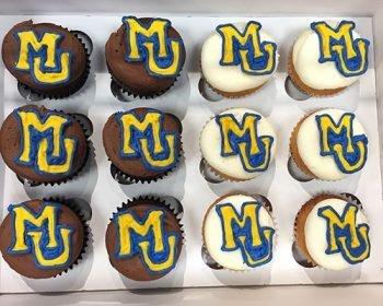 School Logo Cupcakes - Marquette University