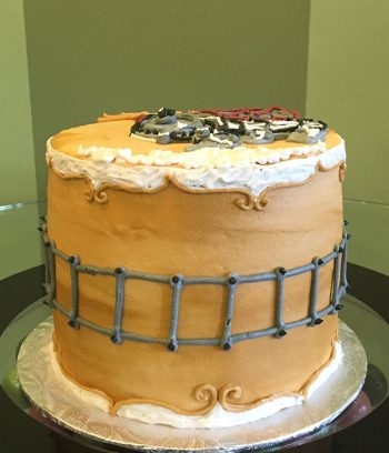 Vintage Train Layer Cake - Side