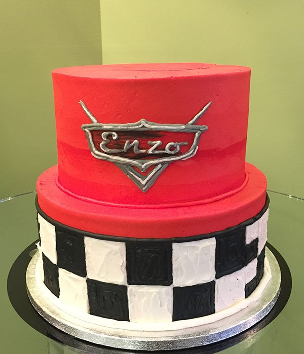 Cars Tiered Cake