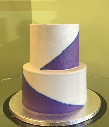 Color Block Tiered Cake