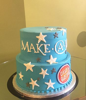Company Logo Tiered Cake - Make-A-Wish/Dave & Busters