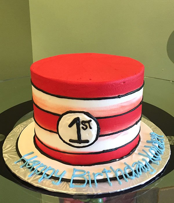 Dr. Seuss Cat In The Hat Layer Cake