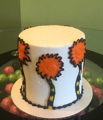 Dr. Seuss Lorax Layer Cake