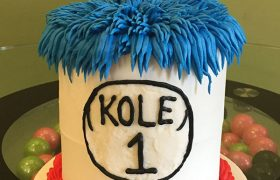 Dr. Seuss Thing 1 Layer Cake