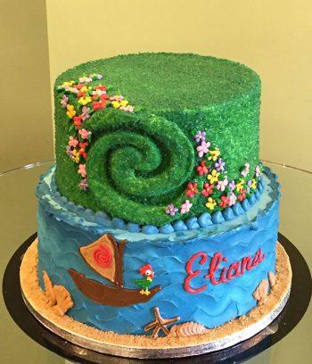 Moana Te Fiti Tiered Cake - Top