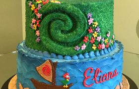 Moana Te Fiti Tiered Cake