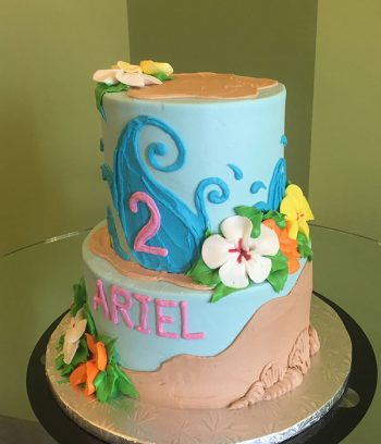 Moana Tiered Cake - Side