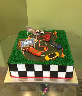 Race Car Layer Cake