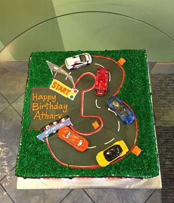 Race Car Layer Cake - Top