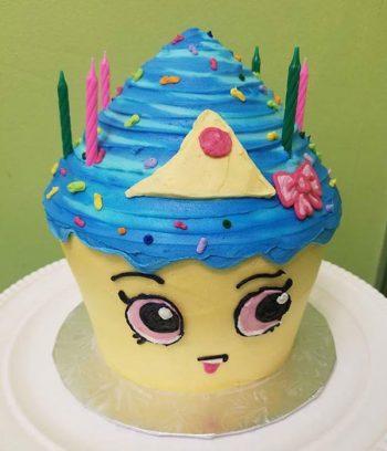Shopkins Cupcake Queen Giant Cupcake Cake - Side