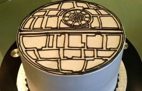 Star Wars Death Star Layer Cake