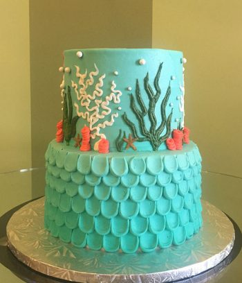 Under The Sea Tiered Cake - Side