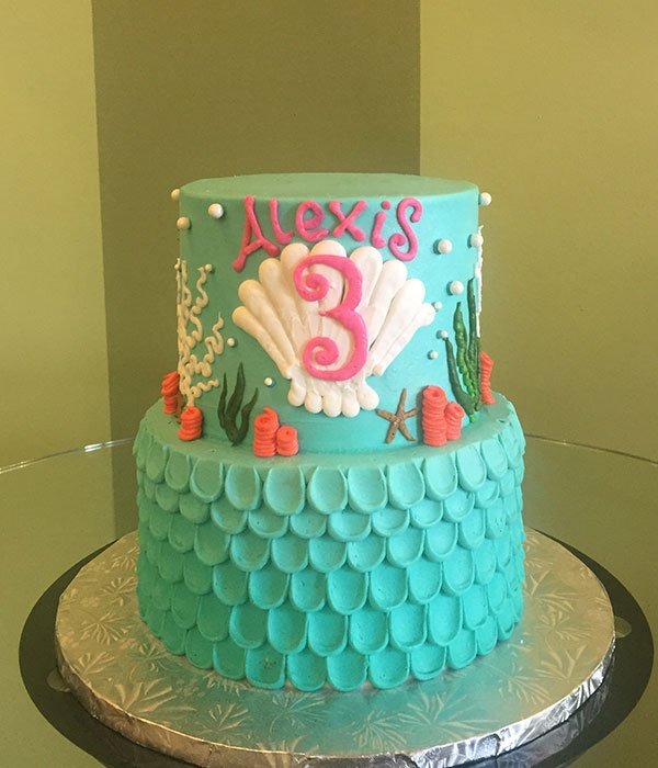 Under The Sea Tiered Cake Classy Girl Cupcakes