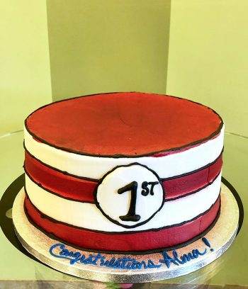 Dr. Seuss Cat in the Hat Layer Cake - 10 Inch