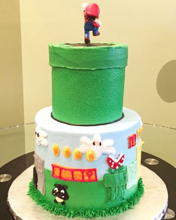 Super Mario Tiered Cake - Back