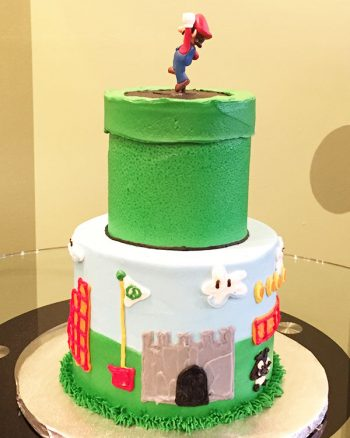 Super Mario Tiered Cake - Side
