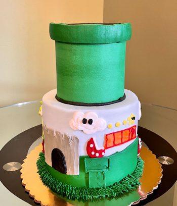 Super Mario Tiered Cake
