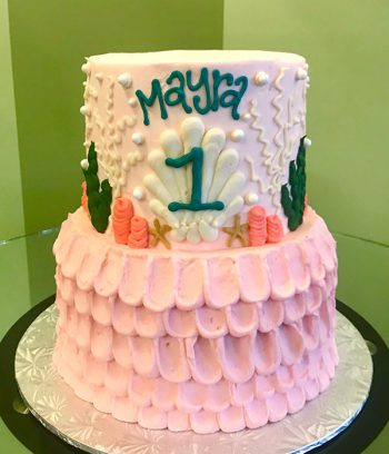 Under the Sea Tiered Cake - Pink