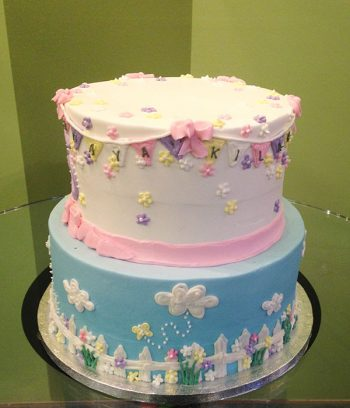 Garden Party Tiered Cake - Back