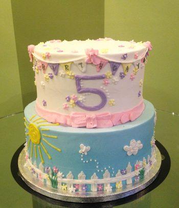 Garden Party Tiered Cake
