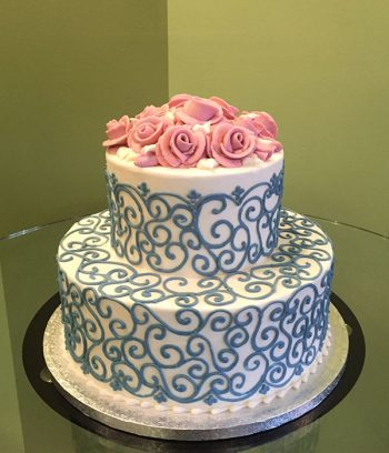Grace Tiered Cake - Blue