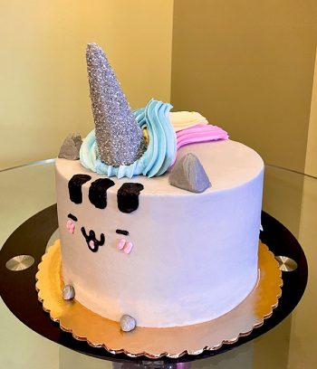 Pusheenicorn Layer Cake