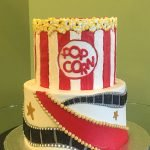 Movie Night Tiered Cake