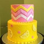 Pink Lemonade Tiered Cake