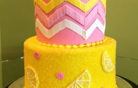 Pink Lemonade Tiered Cake