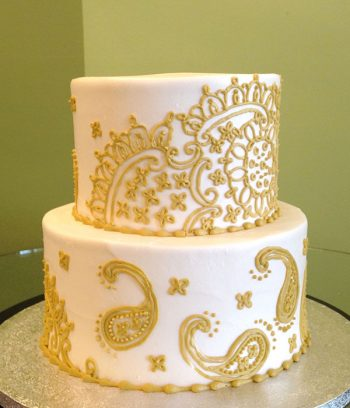 Soleil Tiered Cake - Gold