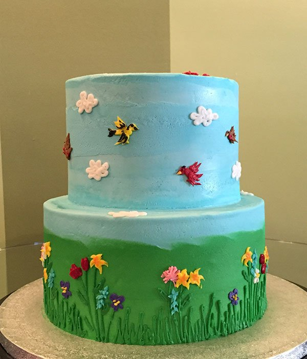 Spring Has Sprung Tiered Cake