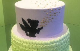 Tinker Bell Tiered Cake