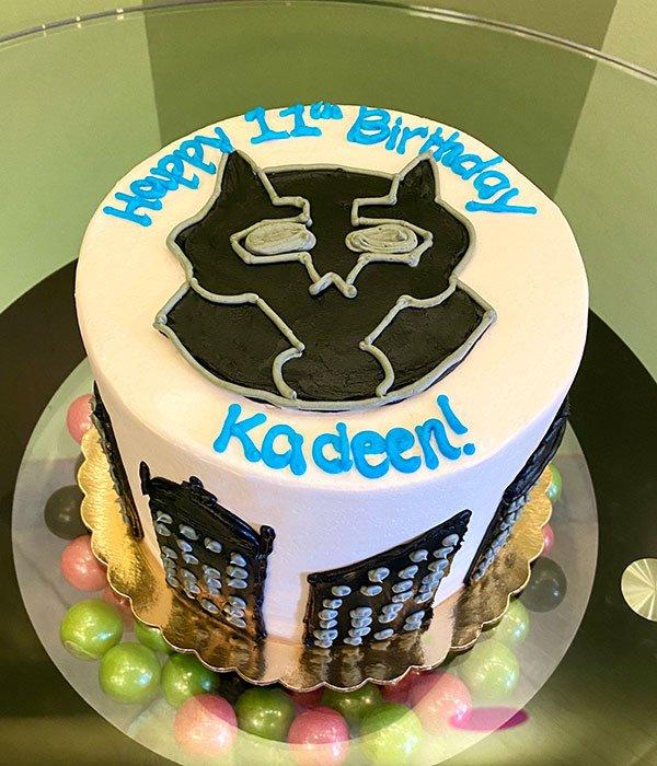 Black Panther Layer Cake - Top