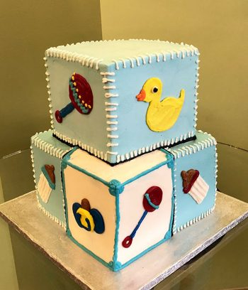 Baby Blocks Tiered Cake - Side
