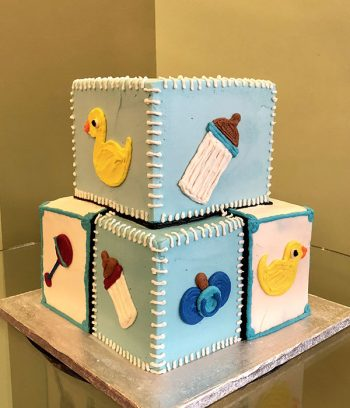 Baby Blocks Tiered Cake